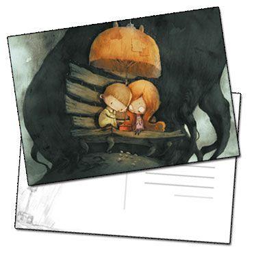 Carte postale Les amoureux sur le banc par Jérémie Almanza