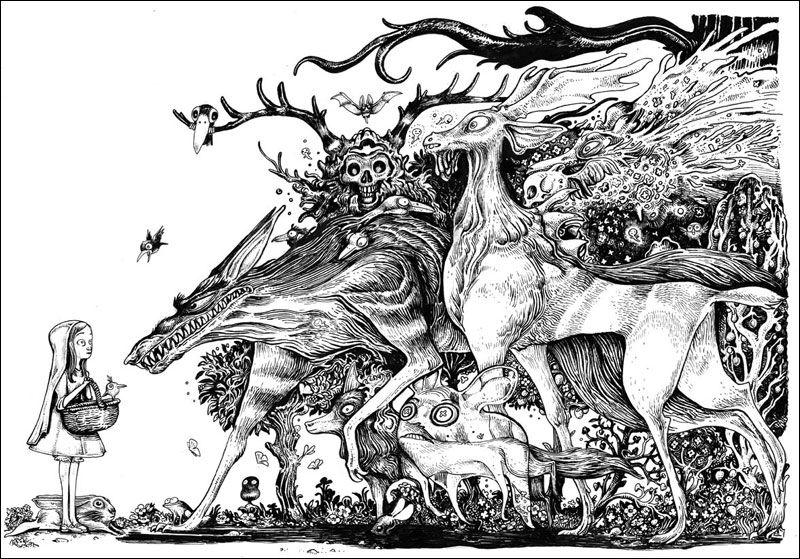 Affiche Forest noir et blanc de Lionel Richerand