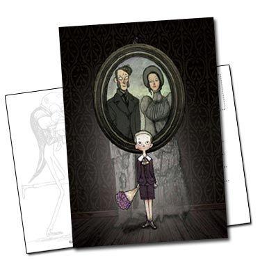 Carte postale couverture de étrange réveillon de Lionel Richerand