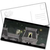 Carte postale nuit étoilée étrange réveillon de Lionel Richerand