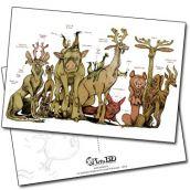 Carte postale Le Bestiaire Fabuleux de Lionel Richerand