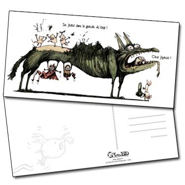 Grande carte postale Au loup de Lionel Richerand