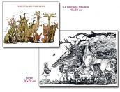 Lot de deux affiches de Lionel Richerand