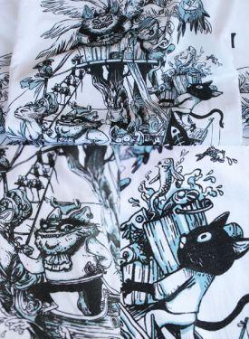 Quelques détails d'impression L'île Aux Chats Pirates