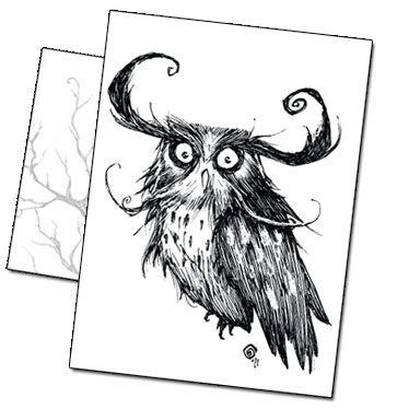 Carte postale le Hibou par Benjamin Basso