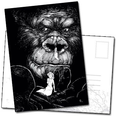 Illustration Hommage au cinéma avec King Kong de Benjamin Basso