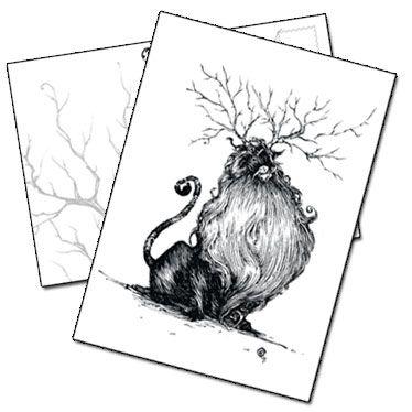 Carte postale Le lion par Benjamin Basso