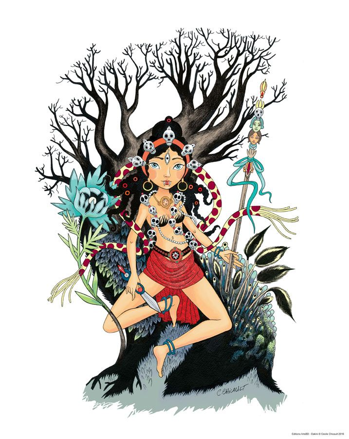 Vue intégrale de l'affiche Dakini de Cécile Chicault