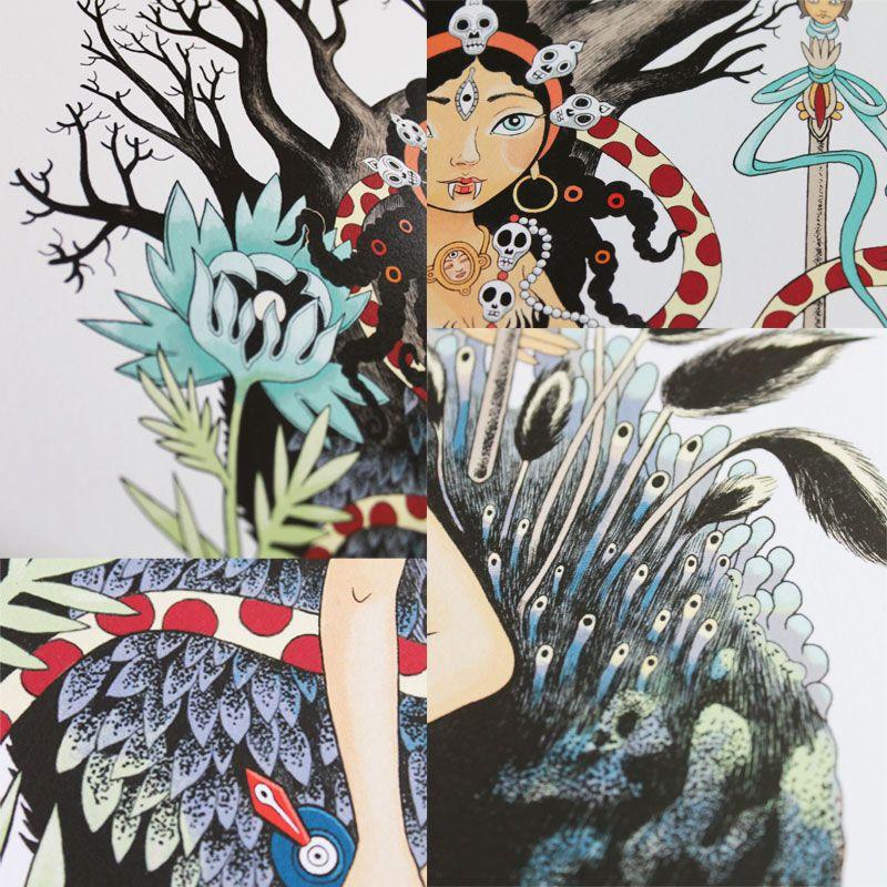 Détails de l'affiche Dakini de Cécile Chicault