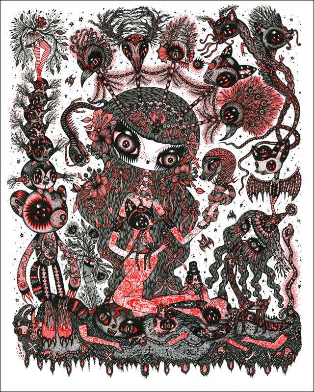 Affiche Engrave Spirit Into The Flesh de Ciou