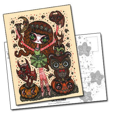 Carte postale Halloween Sweet And Scary 2 de Ciou