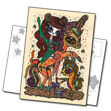 Carte postale Magic circus 2 de Ciou