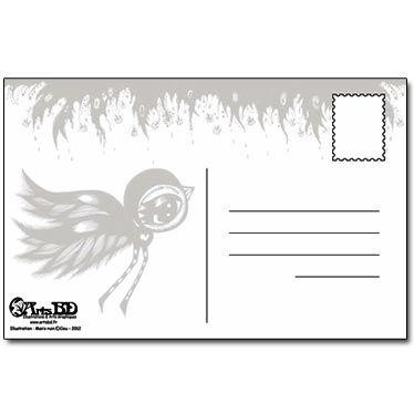 Verso carte postale Engrave Spirit into the Flesh