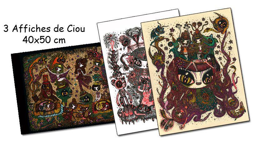 Lot 3 affiches de Ciou