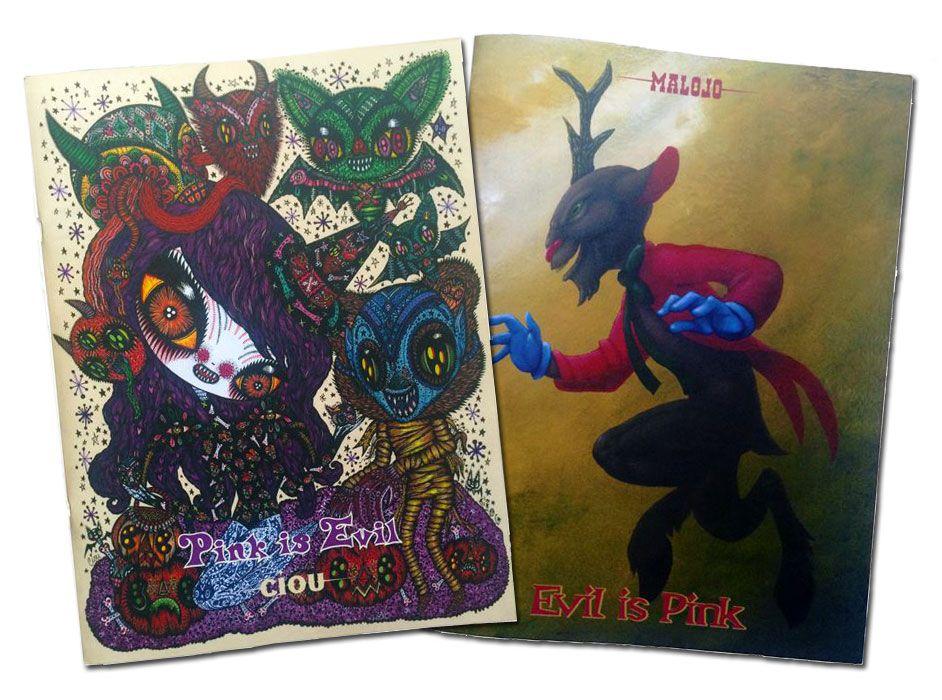 La double couverture du artbook Pink is evil - Evil is pink