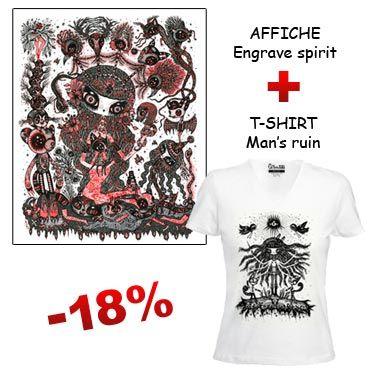 Affiche illustrée et t-shirt design par Ciou