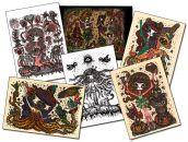 Lot de 6 cartes postales signées Ciou