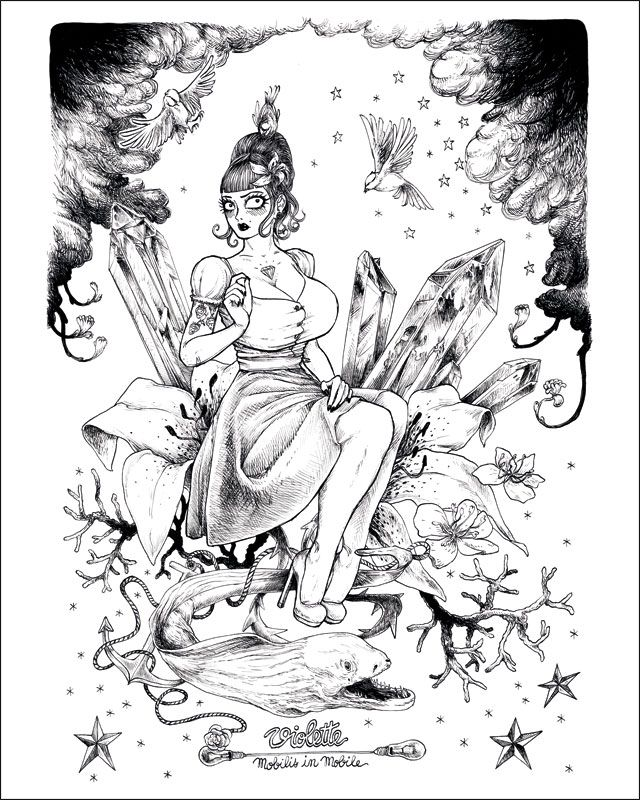 Affiche d'art numérotée signé et t-shirt illustré de François Amoretti