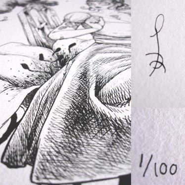Affiche Violette numérotée et signée par François Amoretti