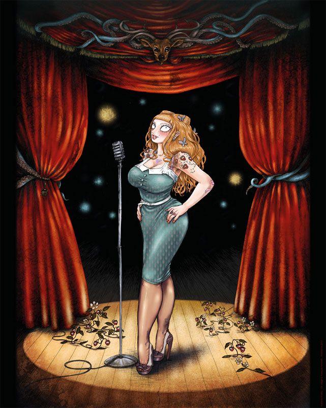 Affiche Burlesque Girrrl numérotée et signée par François Amoretti