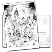 Carte postale Violette Mobilis in Mobile de François Amoretti