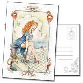 Carte postale du personnage Violette de François Amoretti