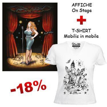 Affiche On Stage et t-shirt Mobilis in Mobile de François Amoretti