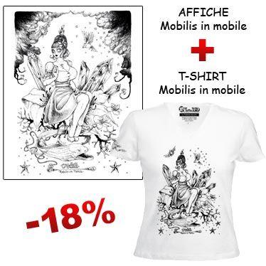 Affiche et t-shirt Mobilis in Mobile de François Amoretti