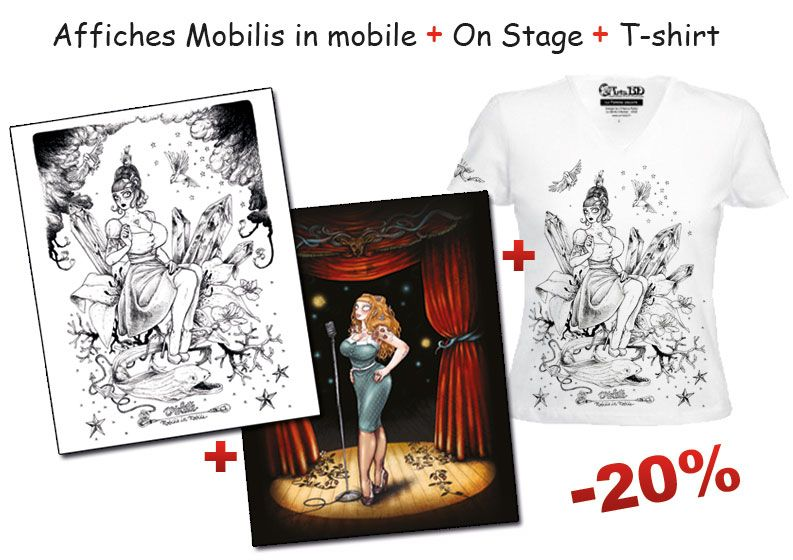Affiches et t-shirt Burlesque Girrrl de François Amoretti