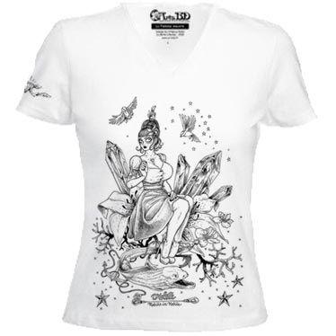 T-shirt Violette noir et blanc de François Amoertti