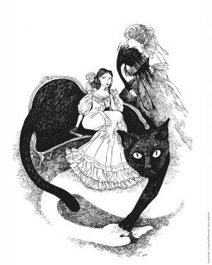 Affiche Le Canapé Chat de Nancy Peña