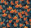papillons oranges sur fond noir