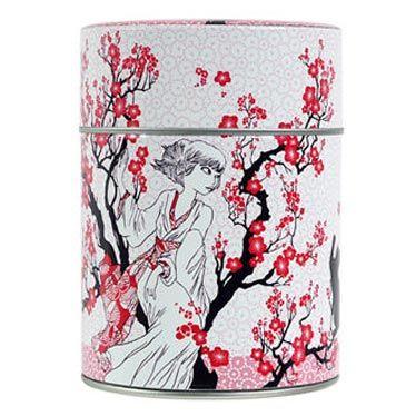 Boîte à thé Fleur de prunier de Nancy Peña