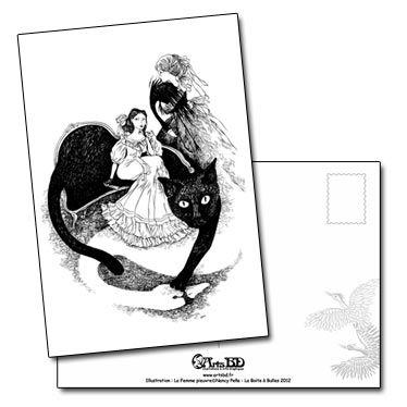 Le Canapé Chat, carte postale de Nancy Peña