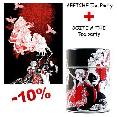 Affiche et boite à thé Tea Party