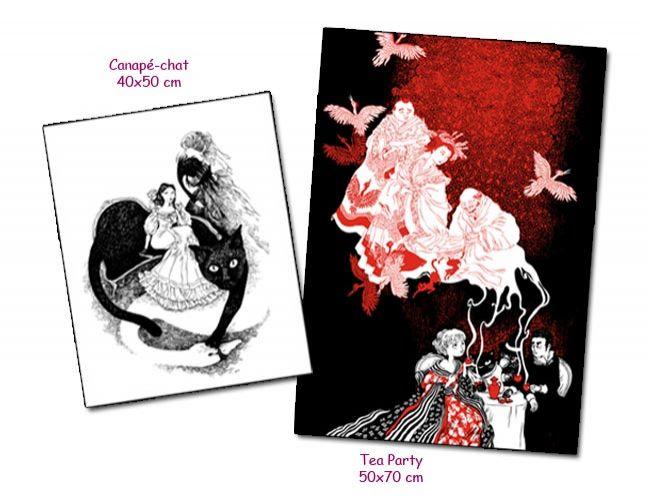 Lot de deux affiches de Nancy Peña
