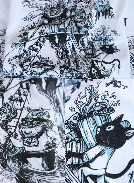 Détails d'impression du t-shirt L'île Aux Chats Pirates