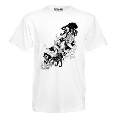 T-Shirt modèle homme La Femme Pieuvre de Nancy Peña