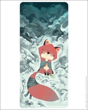 Affiche le renard à l'affût de Yohan Sacré