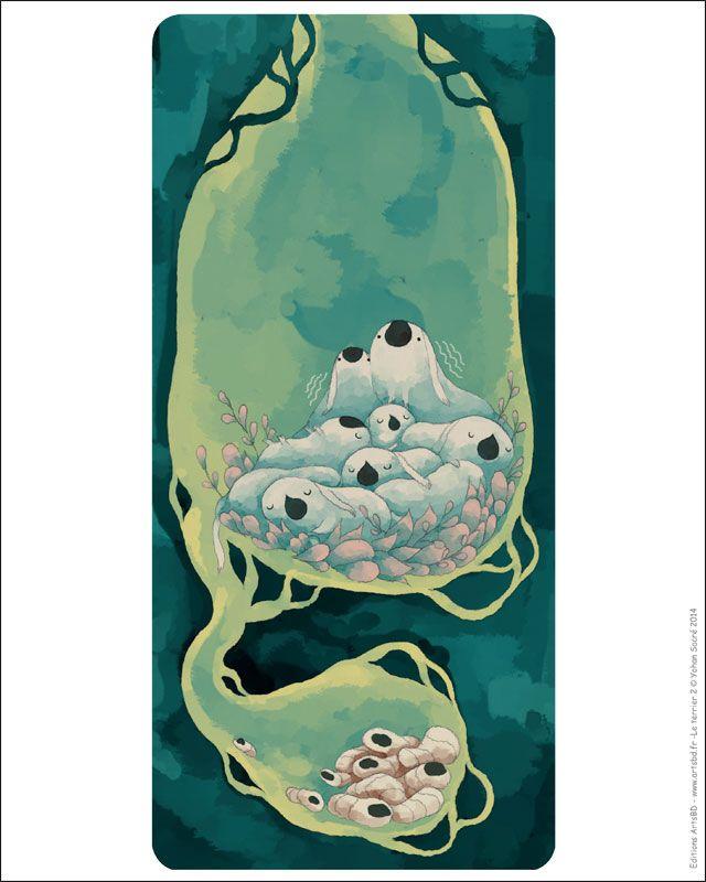 Affiche Les Lapins Inquiets de Yohan Sacré