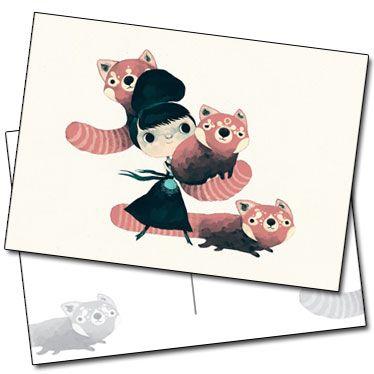 Trois pandaroux et une fille par Yohan Sacré