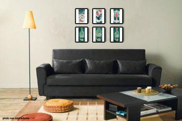 Exemple de strip sur un mur du salon qui met en scène le Renard