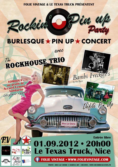 Soirée Burlesque, Pin up, et concert à Nice