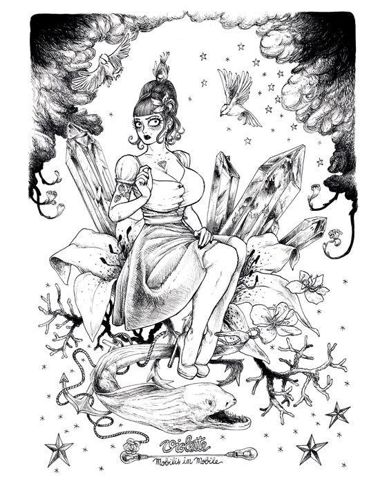 Affiche Violette de François Amoretti