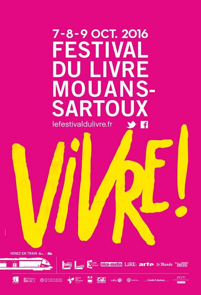 Affiche du festival du livre de Mouans-Sartoux 2016