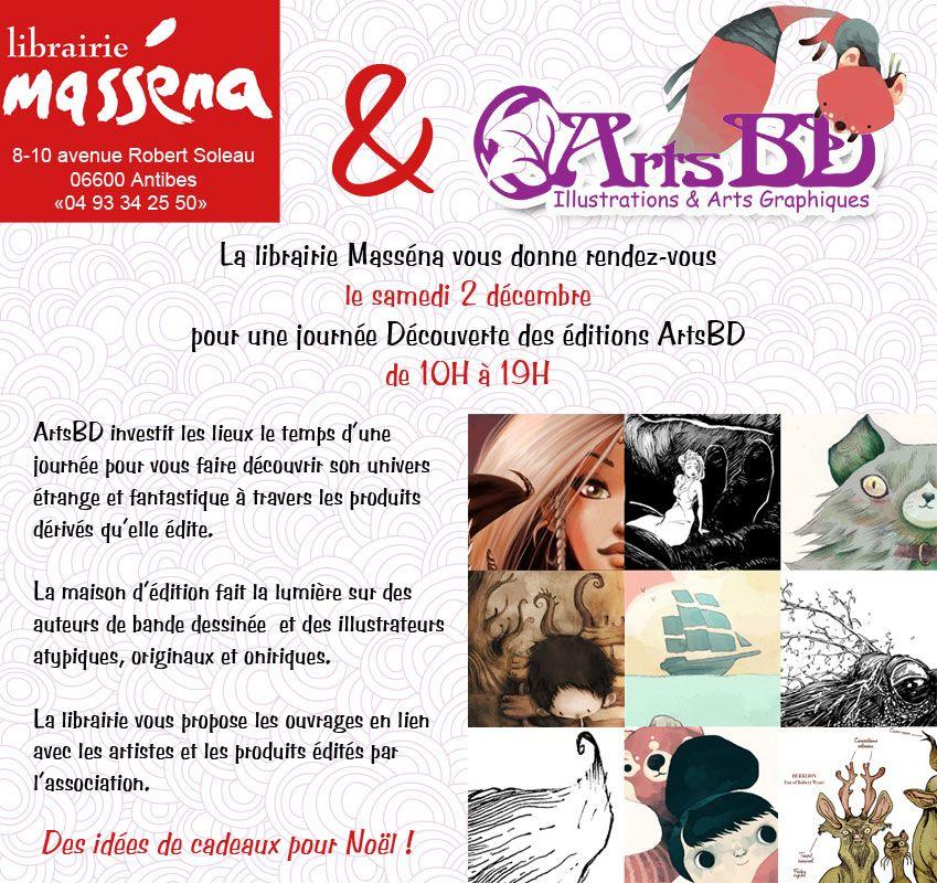 Rendez-vous chez Masséna Antibes à la rencontre d'ArtsBD