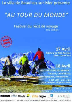 Affiche du premier festival du livre de Beaulieu sur mer