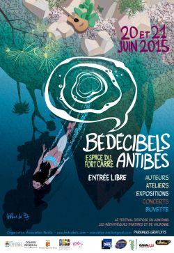 Superbe affiche du festival Bédécibels réalisée par Arthur De Pins