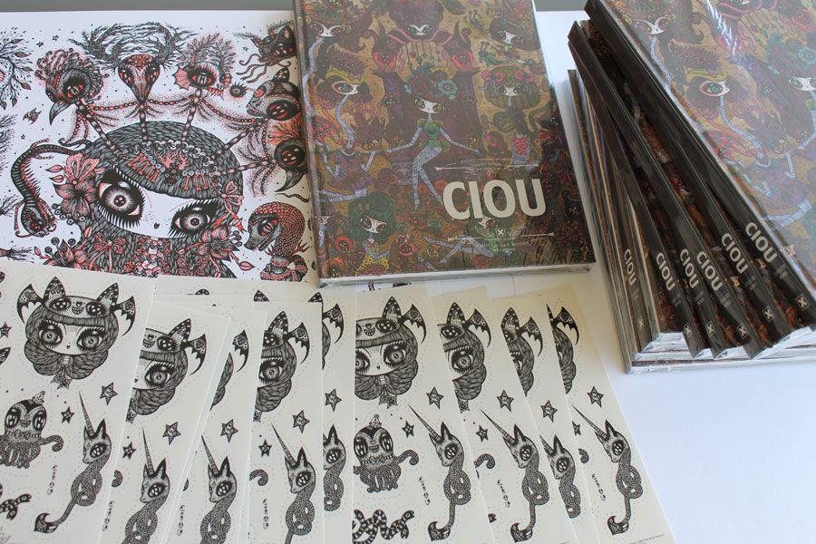 une planche de stickers de Ciou offerte