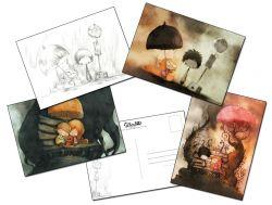 Cartes postales Coeur de pierre, de Jérémie Almanzaalmanza